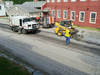 A work crew was cold planing pavement in front of the Old Red Mill in Wilmington earlier this week.  Surface preparation and paving will be done from the village center to the Dover town line this year, and then on to the Stratton line next year.