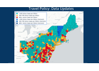 Visitors in green counties can travel to Vermont without quarantining for 14 days.
